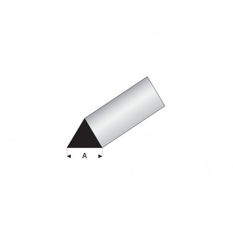 Profilés blanc super styrène triangle 60°
