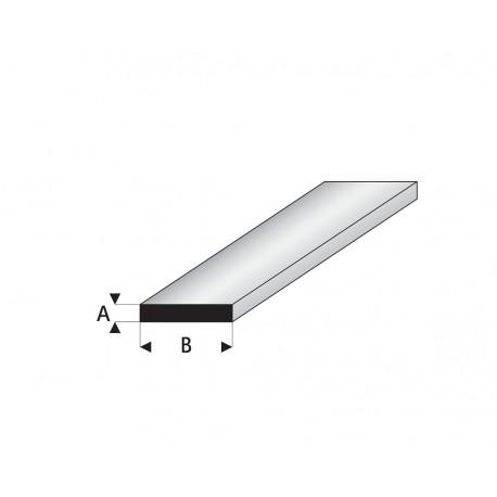Profilés blanc super styrène bande 1mm 330 mm Maquett