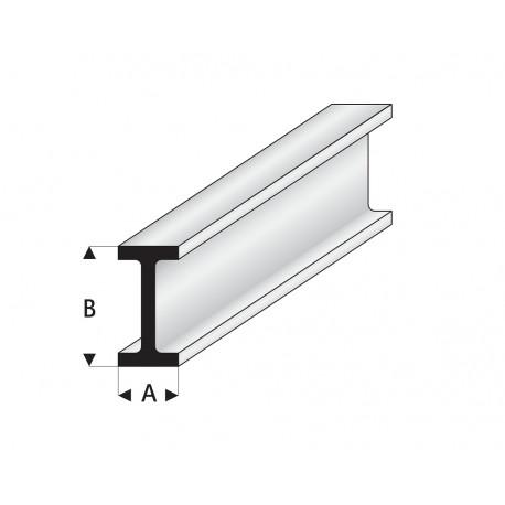 Profilés blanc super styrène en I