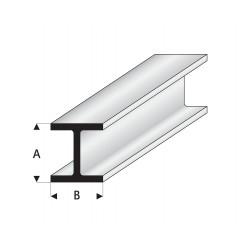 Profilés blanc super styrène en H