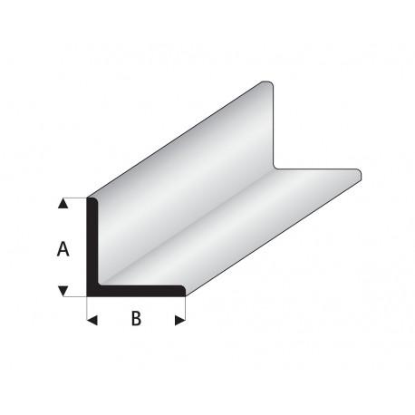 Profilés blanc super styrène en angle A égal B