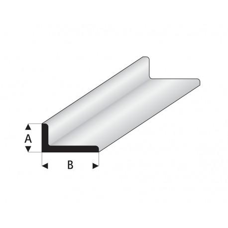Profilés blanc super styrène en angle A égal 0,5 B 330 mm Maquett