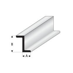 Profilés blanc super styrène en Z