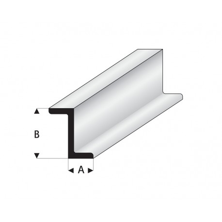 Profilés blanc super styrène en Z 330 mm Maquett