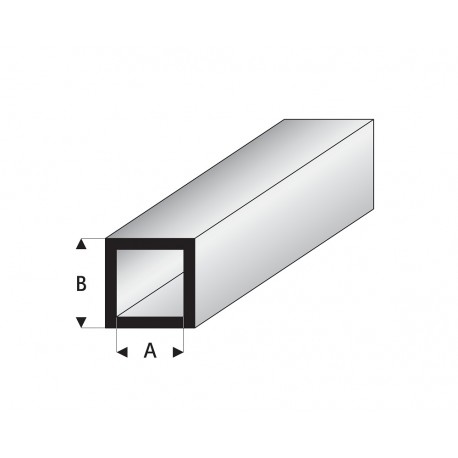 Profilés blanc super styrène tube carré