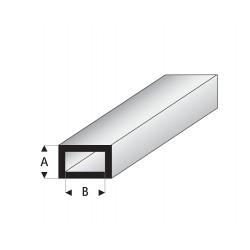 Profilés blanc super styrène tube rectangulaire