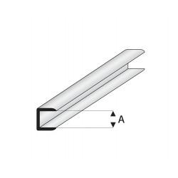 Profilés blanc super styrène de liaison