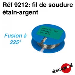 Fil de soudure étain-argent (50 g) (fil de 5/10è) Decapod 9212 - Maketis