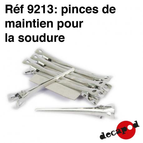 Pinces de maintien pour la soudure (8 pcs) Decapod 9213 - Maketis