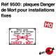 Plaques Danger de Mort pour installations fixes HO Decapod 9500 - Maketis