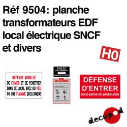 Planche Transformateurs EDF local électrique SNCF et divers HO Decapod 9504