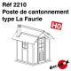 Poste de cantonnement type La Faurie HO Decapod 2210 - Maketis