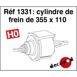 Cylindre de frein de 355 x 110 HO Decapod 1331