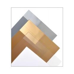 Feuille PVC transparente colorée, taille medium