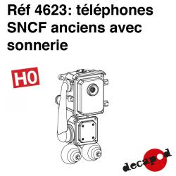 Téléphone SNCF ancien avec sonnerie (8 pcs) HO Decapod 4623