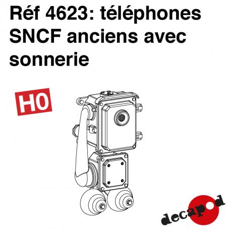 Téléphone SNCF ancien avec sonnerie (8 pcs) HO Decapod 4623 - Maketis