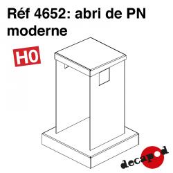 Modern railway crossing shelter H0 Decapod 4652 - Maketis