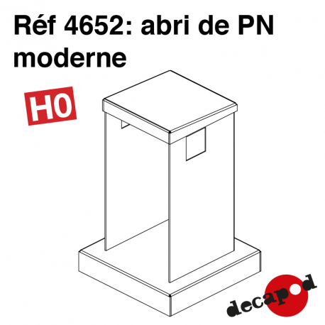 Moderner Bahnübergangsunterstand H0 Decapod 4652 - Maketis