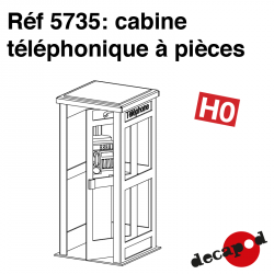 Coin-operated telephone booth H0 Decapod 5735 - Maketis