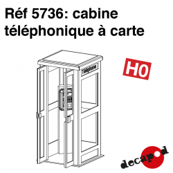 Card phone box H0 Decapod 5736 - Maketis