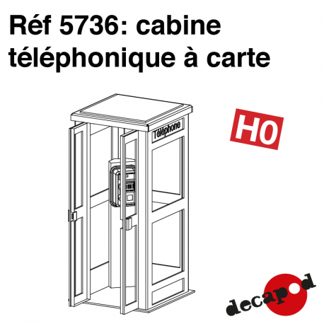Karte Telefonzelle H0 Decapod 5736 - Maketis