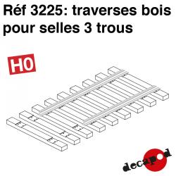 Traverses pour selles 3 trous (60 pcs) HO Decapod 3225