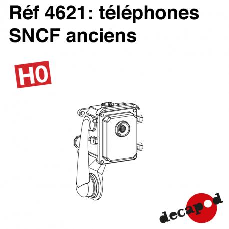Téléphone SNCF ancien (8 pcs) HO Decapod 4621 - Maketis