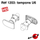 Tampons U6 HO Decapod 1203 - Maketis