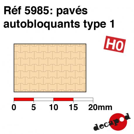 Pavés autobloquants type 1 HO Decapod 5985 - Maketis
