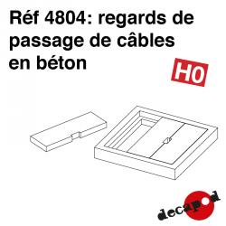 Concrete cable entry shafts (4 pcs) H0 Decapod 4804 - Maketis
