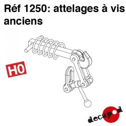 Antique screw couplings H0 Decapod 1250 - Maketis