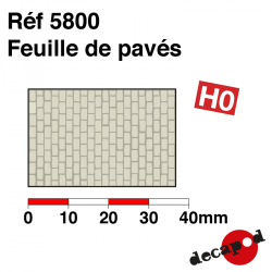 Sheet of paving stones H0 Decapod 5800 - Maketis