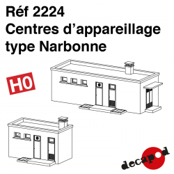 Narbonne type fitting centres H0 Decapod 2224 - Maketis