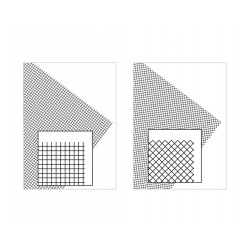 Feuille PVC grille, taille medium