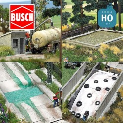 Accessoires agricoles HO Busch 1412 - Maketis