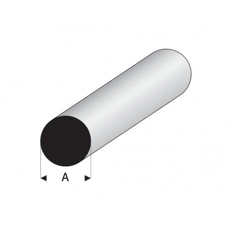 Profilés blanc super styrène rond plein 330 mm Maquett