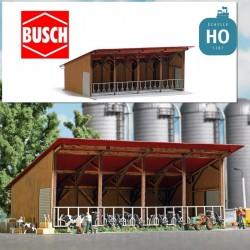 Etable ouverte HO Busch 1902 - Maketis