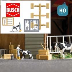 Alimentation d'un veau HO Busch 7932 - Maketis