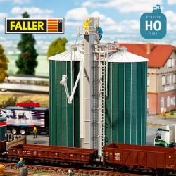 Double silo HO Faller 120260 - Maketis