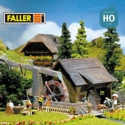 Moulin à eau avec pompe HO Faller 130225 - Maketis
