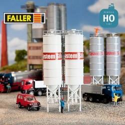 Silos industriels HO Faller 130476 - Maketis