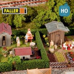 2 Jardins ouvrier + cabane HO Faller 180494 - Maketis