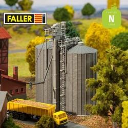 Silos à céréales (2 pcs) N Faller 222216 - Maketis