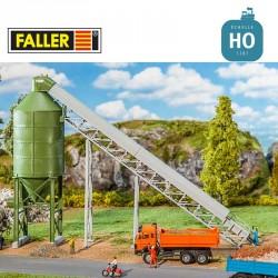 Silo + tapis convoyeur HO Faller 130174 - Maketis