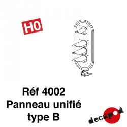 Panneau unifié type B HO Decapod 4002 - Maketis