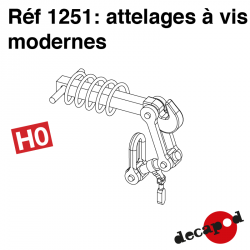 Attelages à vis modernes HO Decapod 1251 - Maketis