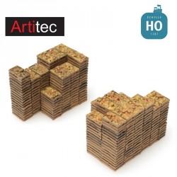 Chargement de caisses de fruits (25 x 13 mm + 25 x 20 mm) HO Artitec 28.121 - Maketis
