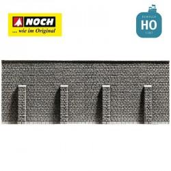 Mur de soutènement 33,4 x 12,5 cm HO Noch 58056 - Maketis