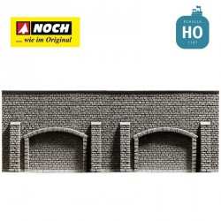 Mur d'arcades 33,4 x 12,5 cm HO Noch 58058 - Maketis
