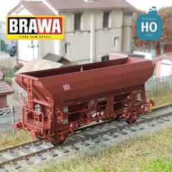 Wagon trémie à essieux Fcs 092 DB Ep VI HO Brawa 49538 - Maketis